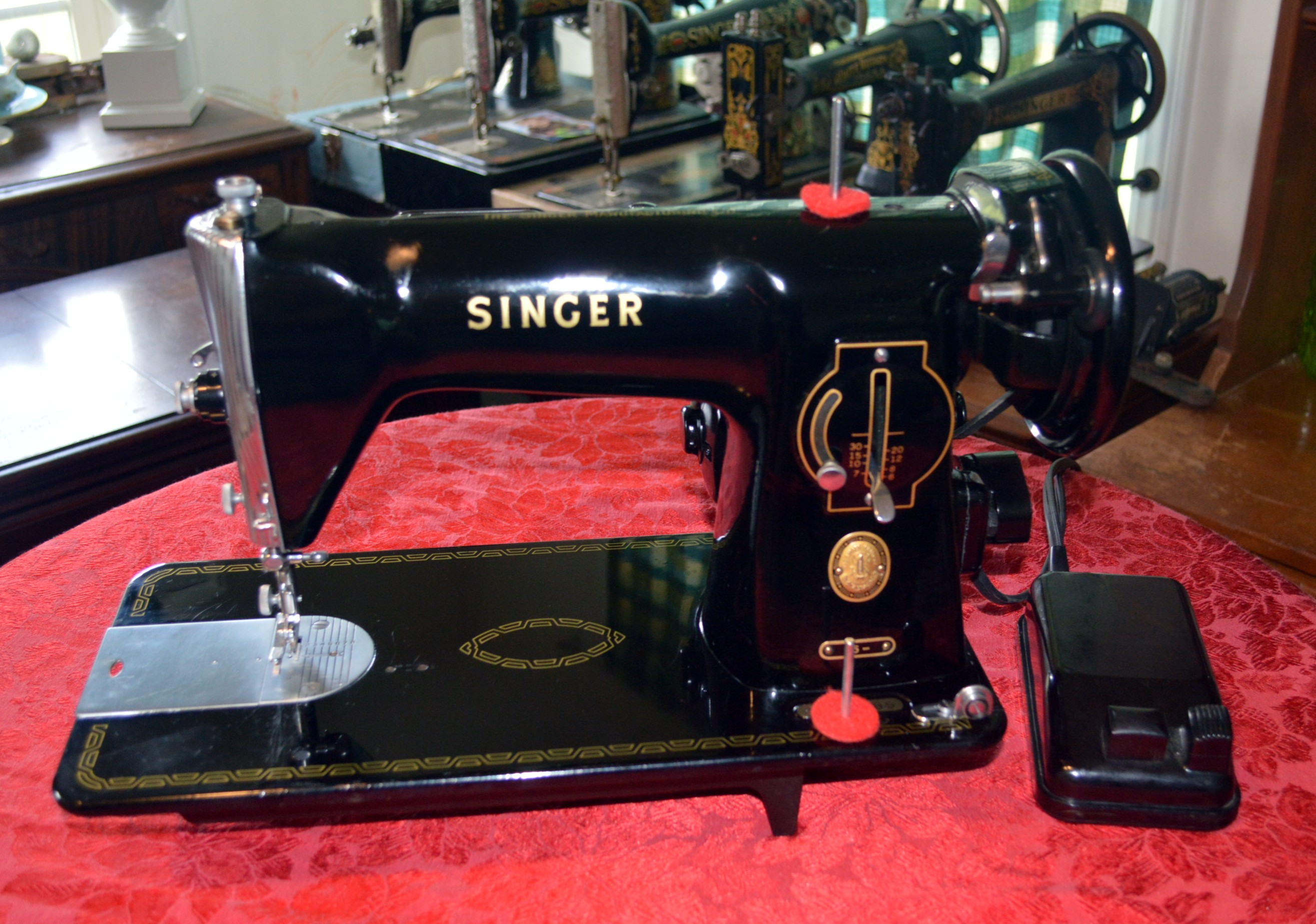 Singer 201 15-91 Sewing Machine Potted Geared Motor Armature